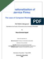 Internationalization of SF