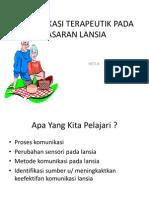 Kom.terapeutik Pd Sasaran Lansia