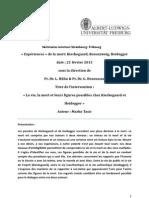 Figures de Vie Et Mort Kierkegaard Heidegger