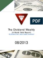 Dividend Weekly 08_2013