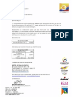 Carta Invitación Federación Colombian de Tenis Curso Nivel 2 Entrenadores