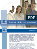 2008 Basics for Effective Interviews