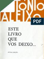 António Aleixo - Este livro que vos deixo - Loulé - 1983