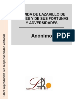 Anónimo - La vida de Lazarillo de Tormes