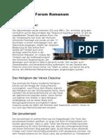 Forum Romanum - Zusammenfassung
