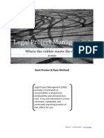 Legal Project Management - Where the rubber meets the road