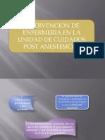 Cuidados de Enfermeria Post Anestesicos