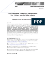 The Effects of Competition on Price Dispersion in the Airline Industry