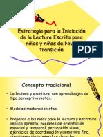 Estrategias para la iniciacion de la lectura escrita.ppt