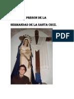 Texto del VIII Pregón de la Hermandad de la Santa Cruz por Alfonso Cocera