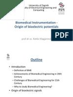 01 Biomedical Instrumentation - Origin of Bioelectric Potentials