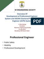 Profession Engineer Presentation by U Win Khaing in MdyAGM.ppt