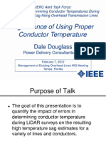 IEEE 2012 TUTORIAL on Significance of Using Proper Conductor Temperature