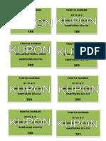 contoh KUPON QURBAN
