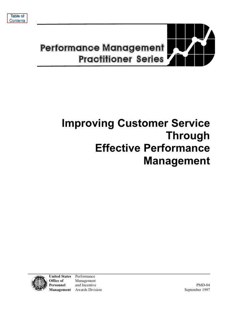 Improving Customer Service Through Effective Performance Management Infiniti G20 Repair Manual 1992 Mercedes 190e 92 Goal Setting