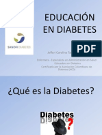 EDUCACIÓN EN DIABETES INSTITUCIONES