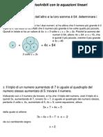 Problemi Con Equazioni Lineari