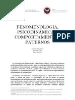 FENOMENOLOGIA, PSICODINÂMICA E COMPORTAMENTOS PATERNOS