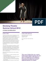 Devising - Summer Schools 2012