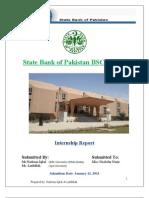 Internship Report on State Bank of Pakistan