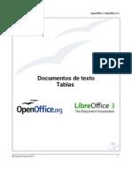Documentos de texto. Tablas (OpenOffice.org y LibreOffice)