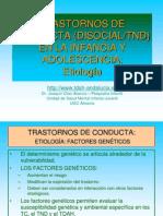 7.7.3.Trastornos disociales. Etiología (1)