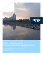 Community Centre Site Suitability Analysis Using GIS