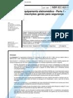 NBR IEC 601-1 - Equipamento Eletrômedico