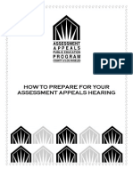 Assessment Appeals How to Prepare Brochure