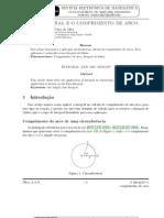 cálculo do comprimento do arco por integral