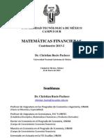 Presentación Curso Matemáticas Financieras UNITEC 2013-2