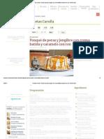 Recetas Carulla - Ponqué de peras y jengibre con crema batida y caramelo con ron, Receta Online