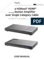 Atlona AT-HDCAT HDBaseT HDMI Distribution Amplifier Manual