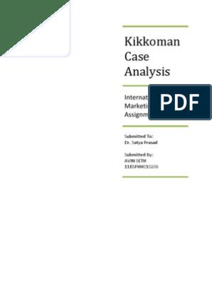 kikkoman research paper
