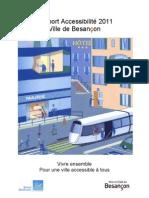 Rapport Accessibilité Besancon 2011