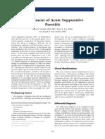 Acute Bacterial Parotitis