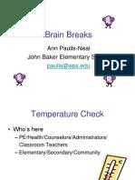 Brain Breaks Research Ppt