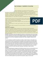 Quantitative Forecasting Techniques vs Qualitative Forecasting Techniques