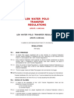 LEN - Waterpolo Transfer Regulations