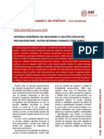 SAR Policy Brief 62 Asigurarea Calitatii in Educatie Final