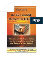 The More You Give the More You Receive Robert Goreta