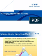 Managing Operations Masters