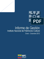 Informe de Gestion INPC 2012