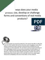 Evaluation Question 1 Media