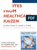 """Quotes from """"Healthcare Kaizen"""""""