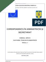 Corespondenta in administratie si secretariat.doc