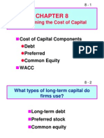 Ch 08 Cost of Capital