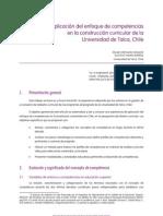 Aplicación del enfoque de competencias en la construcción curricular de la UdT, Chile