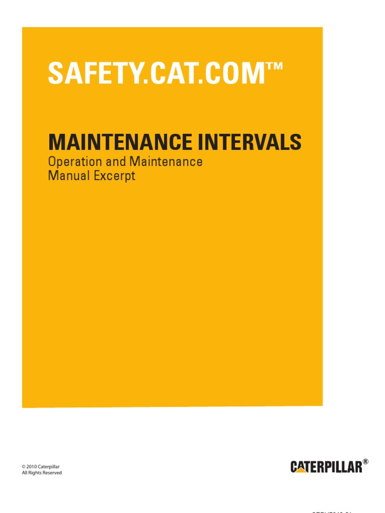 CAT GENERATOR 3408c and 3412c Maintenence Manual | Belt (Mechanical ...