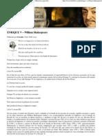 Shakespeare -EnRIQUE V